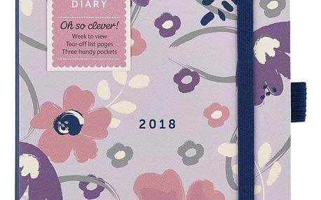 Busy B Diář 2018 To do Diary Pretty A6, růžová barva, fialová barva, papír