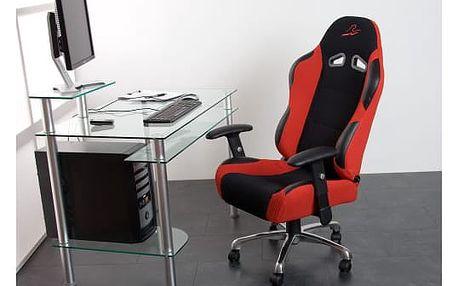 RACEMASTER® RS Series 1370 Kancelářská židle sportovní design červená / černá