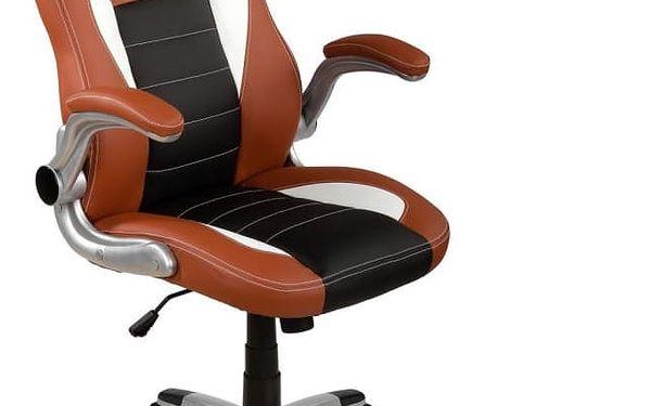 Otočná kancelářská židle GT Series - hnědá/černá/bílá
