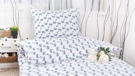 XPOSE ® Flanelové povlečení VILMA - modrá 140x200, 70x90