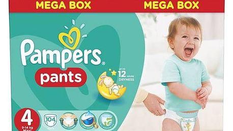 Plenkové kalhotky Pampers Mega Box vel. 4, 104ks + Doprava zdarma
