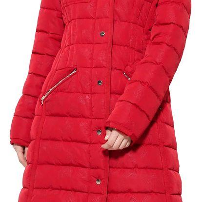 Desigual červený zimní kabát Pisa