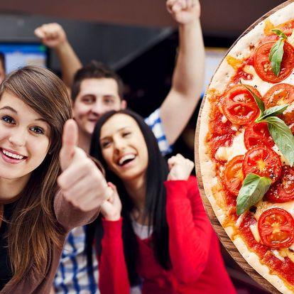 Pizza dle výběru a k tomu hodina bowlingu