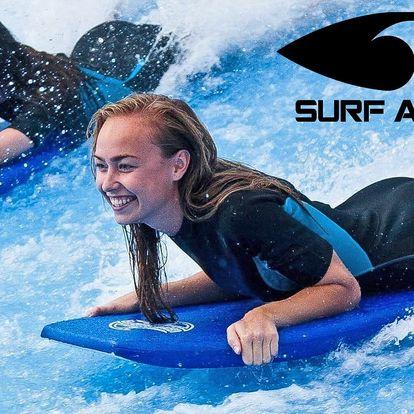 Surfování pod střechou: 1/2hod. bodyboardingu