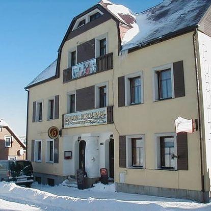 Krušné hory - relaxační pobyt v penzionu U Pohody, polopenze, speciální menu, sauna, muzeum.