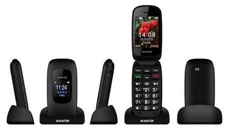 Mobilní telefon Aligator V600 Senior (AV600TB) černý/titanium