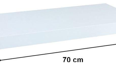 Nástěnná police STILISTA VOLATO - bílá 70 cm