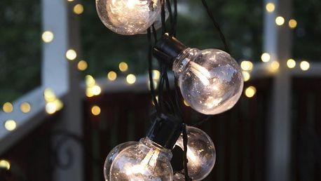STAR TRADING Světelný LED řetěz Black - 16 žárovek, černá barva, plast