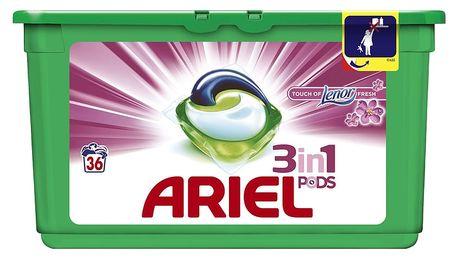 ARIEL Touch of Lenor Fresh 3v1 Gelové Kapsle - 36 praní