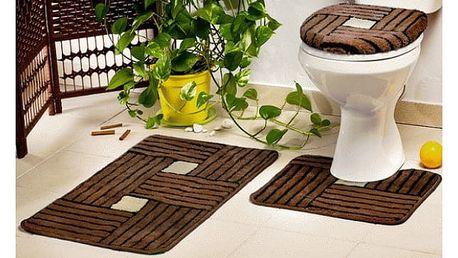 Sada koupelnových podložek Borneo - 3 kusy - VÝPRODEJ