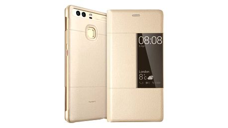 Huawei Original S-View pouzdro pro P9, zlatá - 51991509