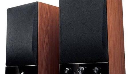 Reproduktory Genius SP-HF1250B 2.0 (31731022100) černá/imitace dřeva + Doprava zdarma