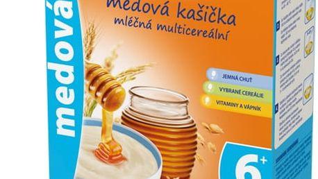 3x SUNÁREK Medová kašička (225 g) - mléčná kaše