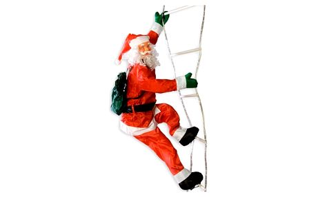Vánoční dekorace - Santa Claus na žebříku - 240 cm