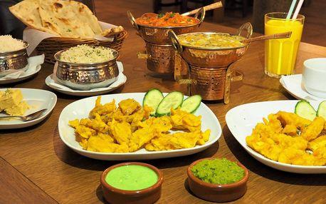 Tradiční indické menu o 3 chodech pro dva