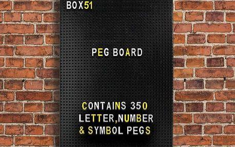 Retro tabulka s písmeny 350 ks