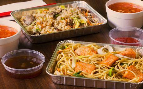 Asijské menu pro 2 osoby s rozvozem až k vám