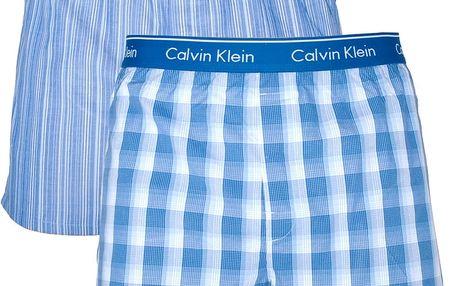 2PACK pánské trenýrky Calvin Klein Classic Fit modré XL
