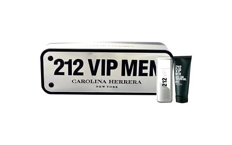 Carolina Herrera 212 VIP Men dárková kazeta pro muže toaletní voda 50 ml + sprchový gel 100 ml