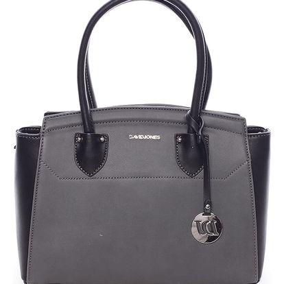Exkluzivní dámská kabelka do ruky černo šedá - David Jones Mallory černá