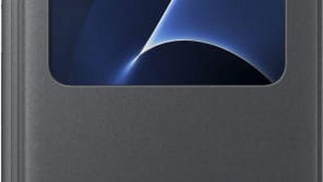Samsung EF-CG930PB Flip S-View Galaxy S7, Black - EF-CG930PBEGWW