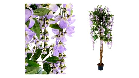 Umělá květina - vistárie strom fialová - 180 cm