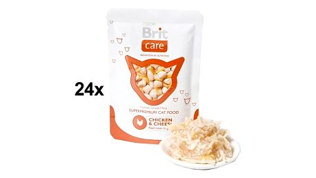 Kapsička Brit Care Chicken & Cheese Pouch 24 x 80g