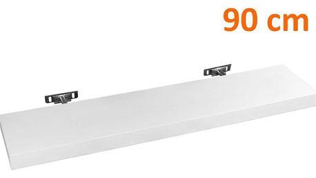STILISTA SALIENTO 30874 Nástěnná police - bílá 90 cm