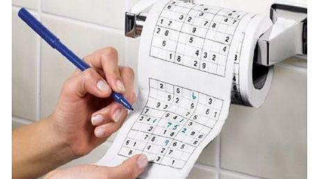 Sudoku na toaletu - potrénujte logiku i na oné místnosti!
