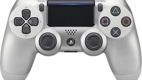 Sony PS4 DualShock 4 v2, stříbrný - PS719895657