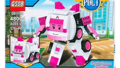 QS08 Stavebnice Robot Polt Ambulance růžová - 176 ks