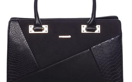 Módní dámská kabelka do ruky černá - David Jones Fealty černá