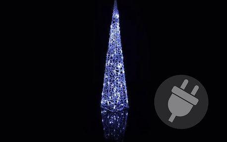 Vánoční dekorace - Akrylový kužel - 90 cm, studeně bílé + trafo