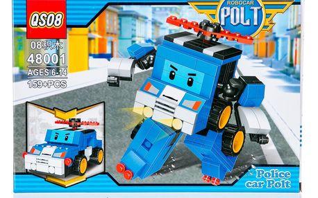 QS08 Stavebnice Robot Polt Police modrá - 159 ks