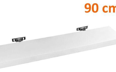 STILISTA 30874 Nástěnná police SALIENTO - bílá 90 cm