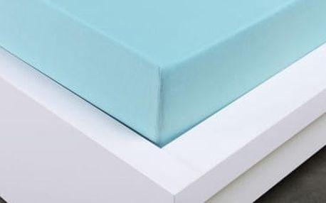 XPOSE ® Jersey prostěradlo dvoulůžko - světle modrá gramáž 150g/m 160x200 cm