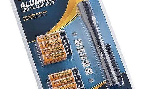 Baterie alkalická GoGEN LR03 ALKALINE 16, AAA, blistr 16 ks + svítilna (GOGR03ALK16LIGHT) černá/oranžová