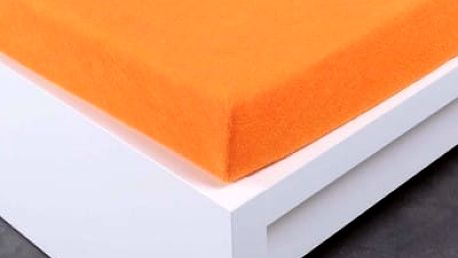 XPOSE ® Froté prostěradlo Exclusive dvoulůžko - oranžová 200x220 cm