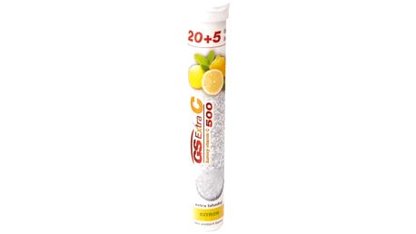 GS Extra C 500 šumivý citrón 25 tablet