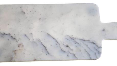 MADAM STOLTZ Mramorové krájecí prkénko, šedá barva, mramor