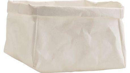 MADAM STOLTZ Papírový box White, bílá barva, papír