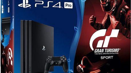 PlayStation 4 Pro, 1TB, černá + Gran Turismo Sport - PS719905967 + The Last of Us v ceně 2000kč