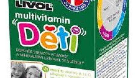 LIVOL Děti multivitamin s třešňovou příchutí 30+10 tablet