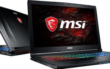 MSI GP72M 7REX-802CZ Leopard Pro, černá + dráček MSI + podložka pod myš MSI