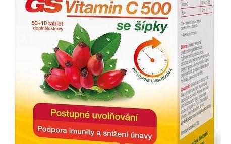 GS Vitamin C 500 se šípky tbl.50+10