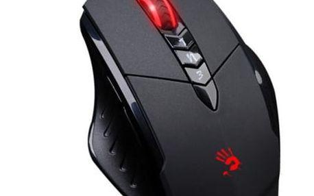 A4Tech BLOODY V7 herní myš, až 3200DPI, HoleLess technologie, 160KB paměť, USB, CORE 2, kovové podložky