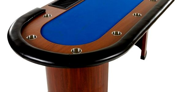 MAX 32445 XXL pokerový stůl Royal Flush, 213 x 106 x 75cm, modrá