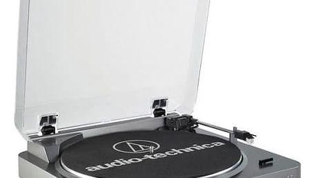 Gramofon Audio-technica AT-LP60-USB stříbrný