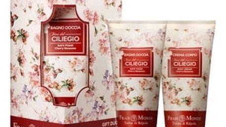 Frais Monde Cherry Blossoms dárková kazeta pro ženy tělový krém 200 ml + pěna do koupele 200 ml