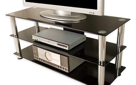Tuin 1281 Televizní skleněný stolek NOBLE černý
